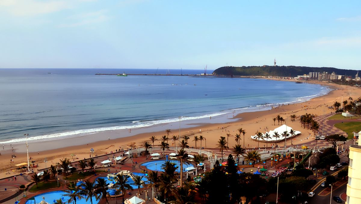 Durban beach from above